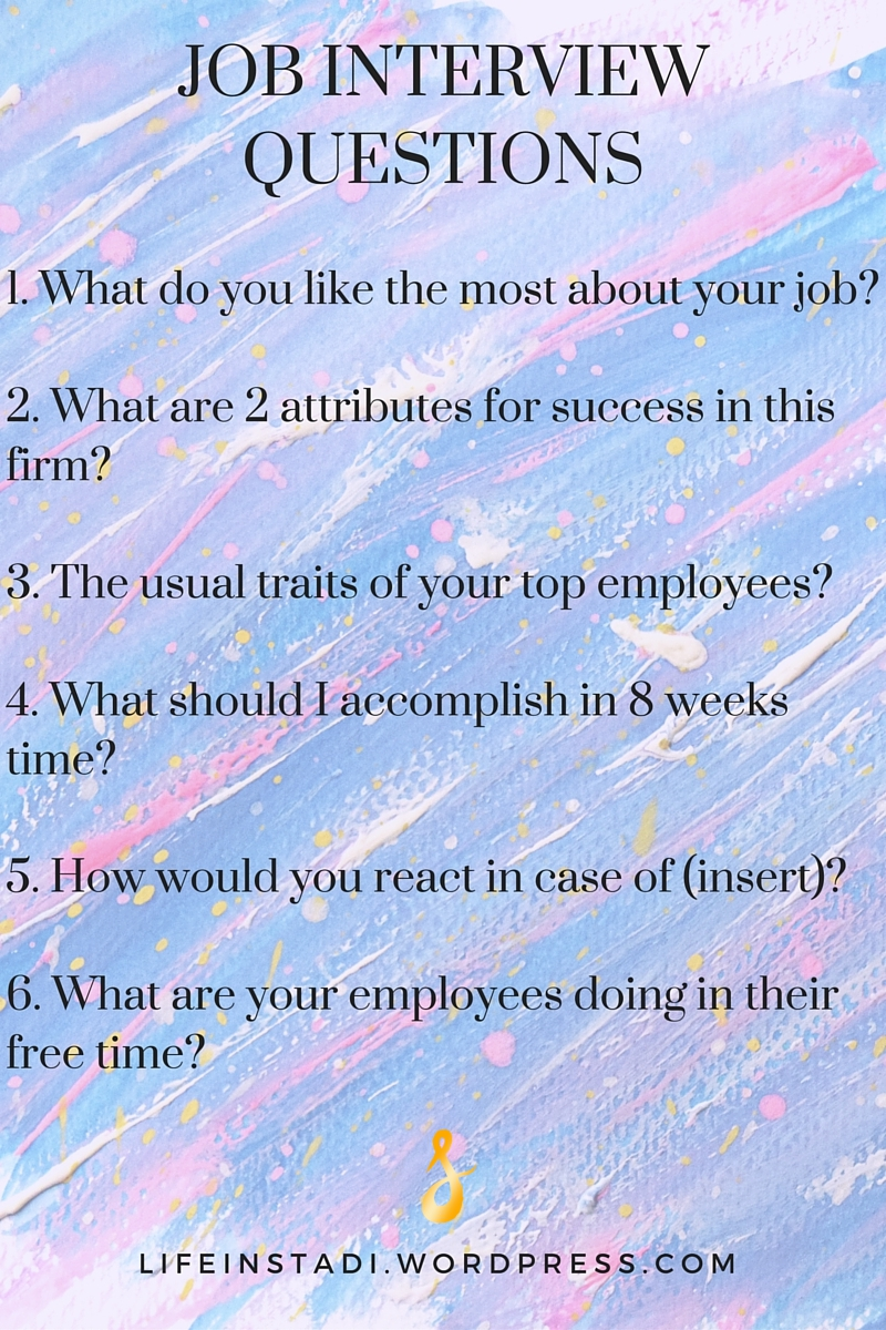 questions to ask on a job interview creative entrepreneur wordpress com1